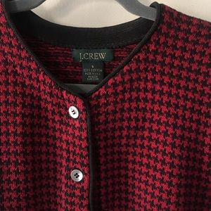 J. Crew houndstooth buttoned cardigan